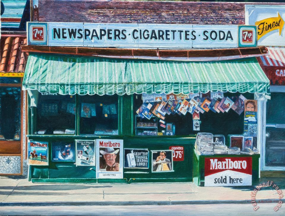 Newspaper Stand West Village Nyc painting - Anthony Butera Newspaper Stand West Village Nyc Art Print