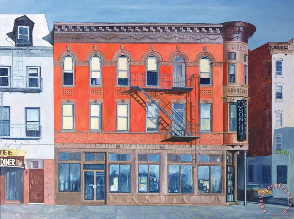 O Sunghai Restaurant West Village painting - Anthony Butera O Sunghai Restaurant West Village Art Print