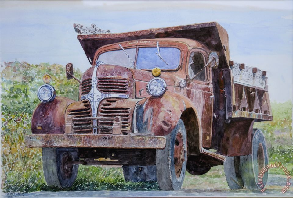anthony butera old farm truck painting old farm truck print for sale. Black Bedroom Furniture Sets. Home Design Ideas