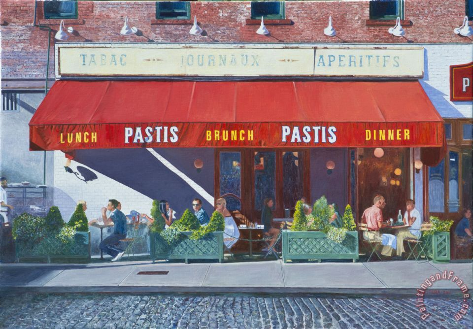 Pastis painting - Anthony Butera Pastis Art Print