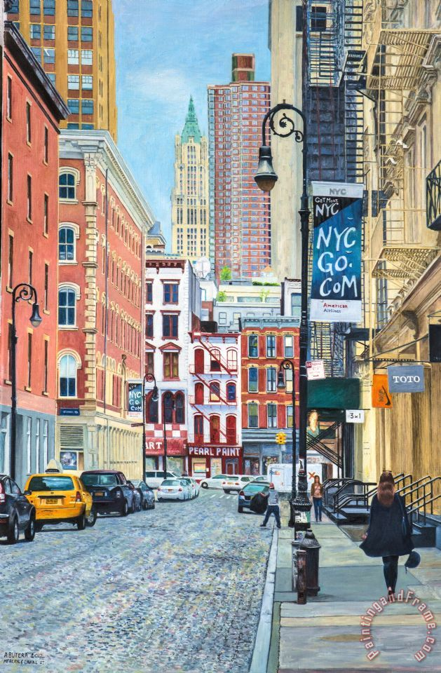 Pearl Paint Canal St. From Mercer St. Nyc painting - Anthony Butera Pearl Paint Canal St. From Mercer St. Nyc Art Print