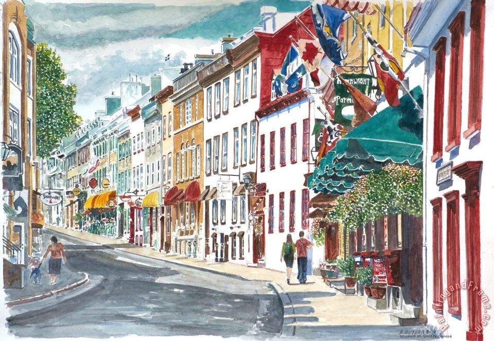 Anthony Butera Quebec Old City Canada Art Print