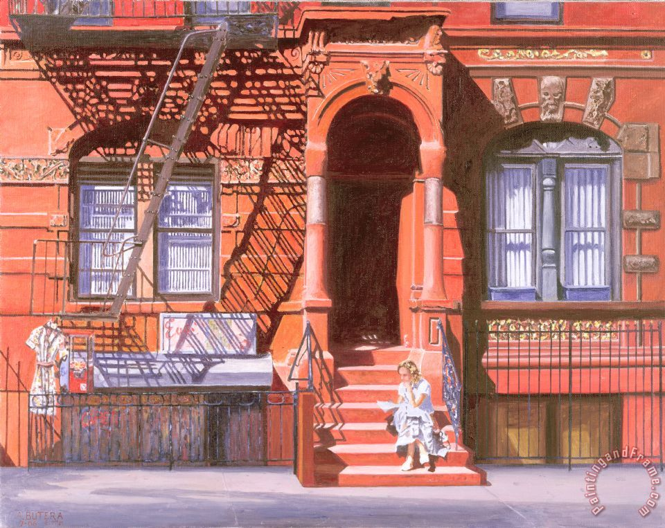 Sunday Afternoon East 7th Street Lower East Side Nyc painting - Anthony Butera Sunday Afternoon East 7th Street Lower East Side Nyc Art Print