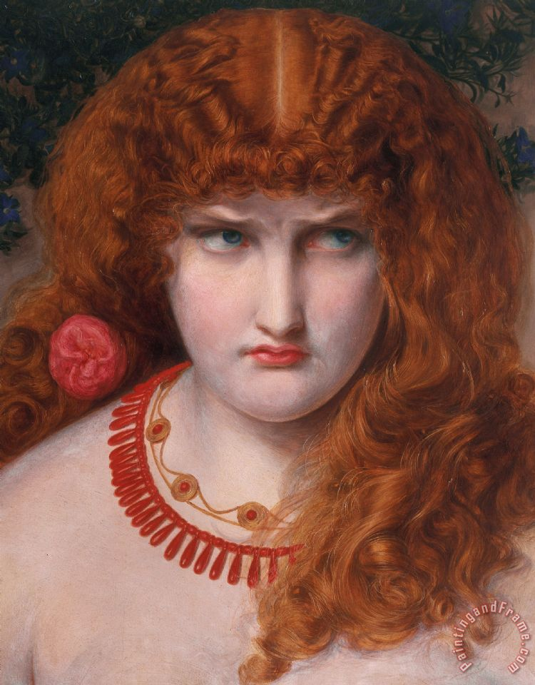Helen Of Troy painting - Anthony Frederick Augustus Sandys Helen Of Troy Art Print