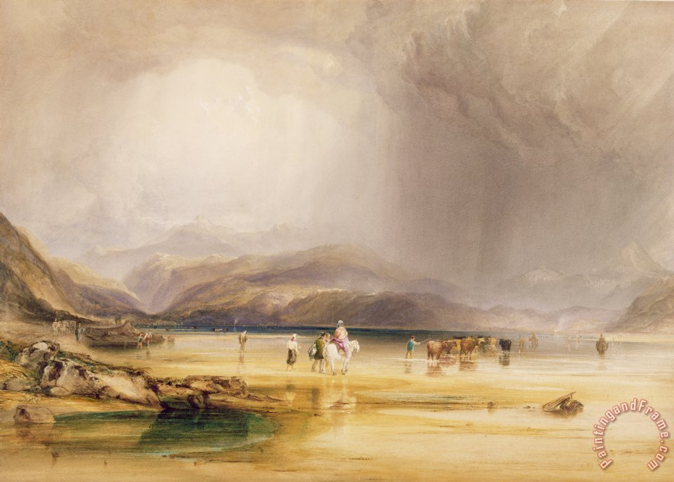 View from Snowdon from Sands of Traeth Mawe painting - Anthony Vandyke Copley View from Snowdon from Sands of Traeth Mawe Art Print