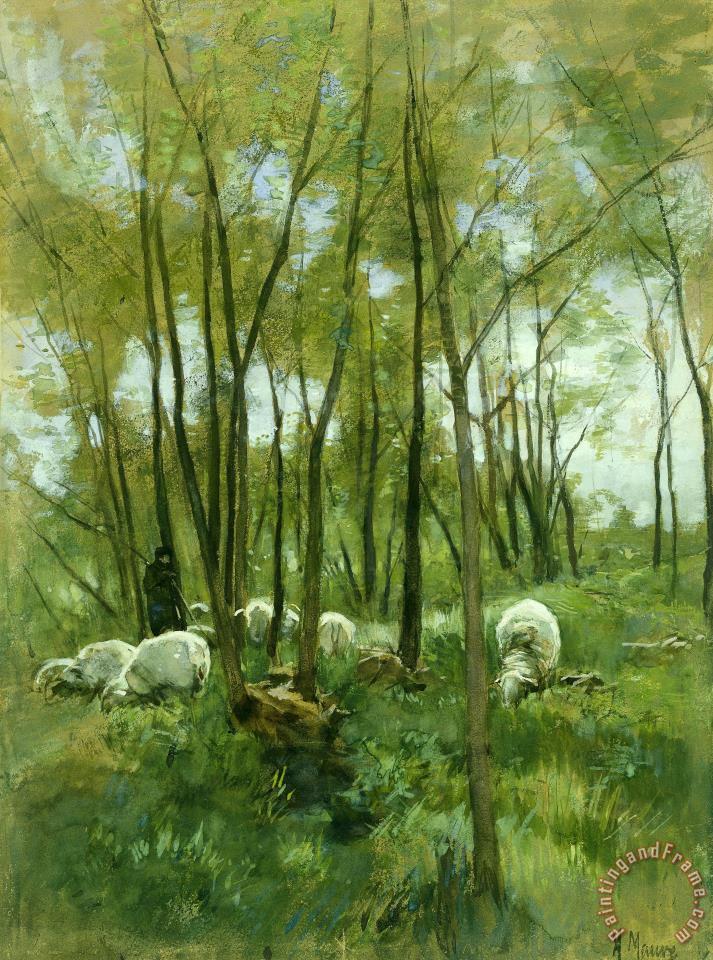 Anton Mauve Paintings For Sale
