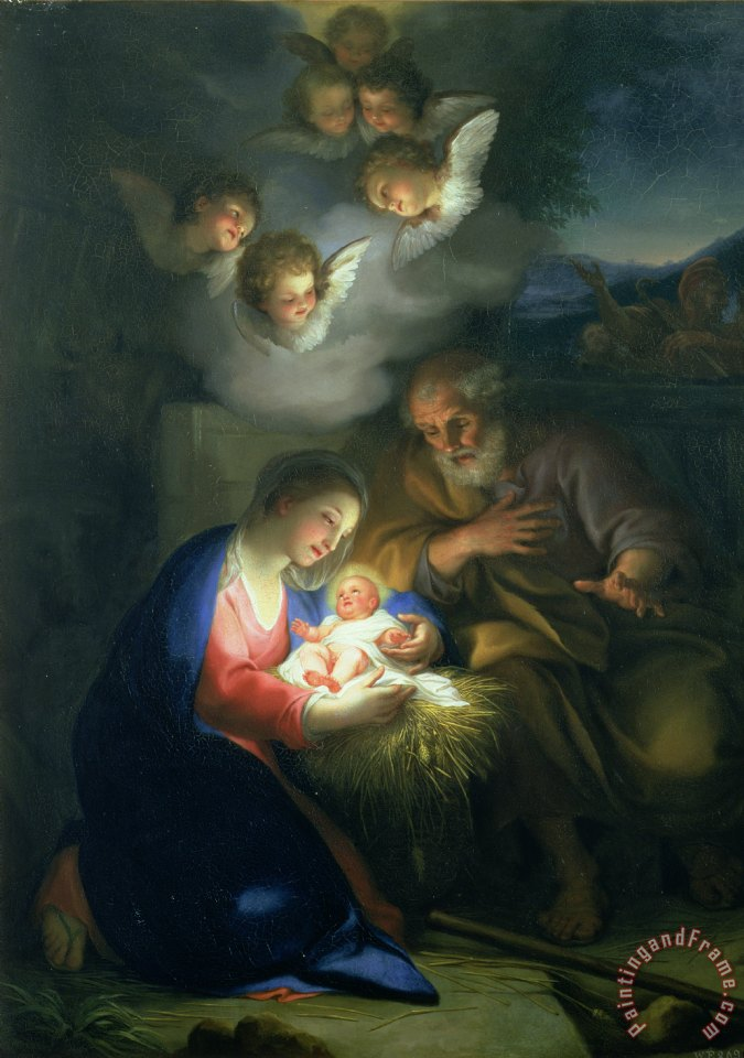 Anton Raphael Mengs Nativity Scene painting - Nativity Scene print for ...