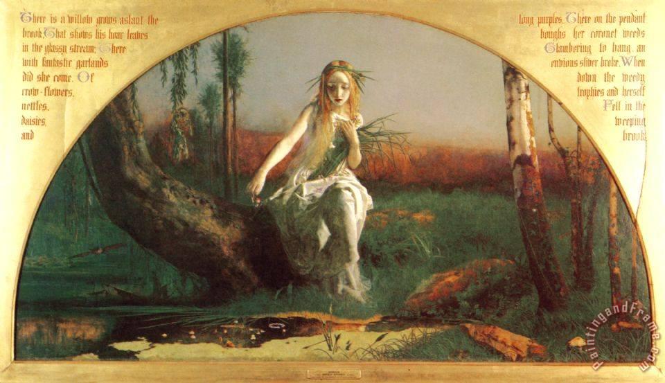 Ophelia painting - Arthur Hughes Ophelia Art PrintOphelia Painting Arthur Hughes