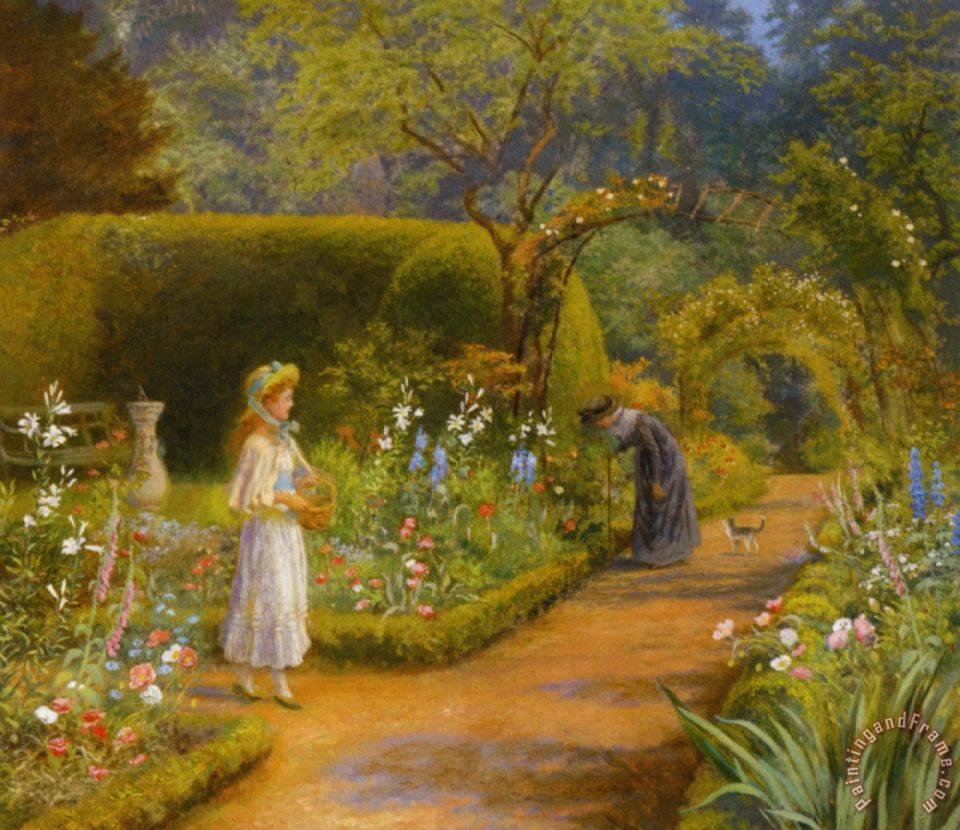 Arthur Hughes Visit To Grandmother Painting Visit To