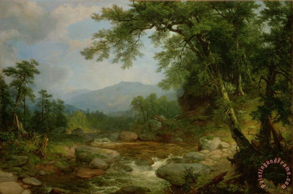 Monument Mountain - Berkshires painting - Asher Brown Durand Monument Mountain - Berkshires Art Print