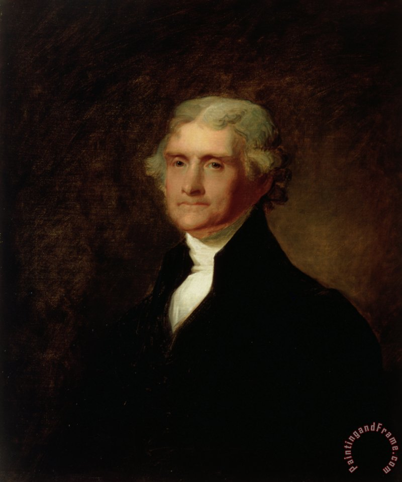 Portrait of Thomas Jefferson painting - Asher Brown Durand Portrait of Thomas Jefferson Art Print
