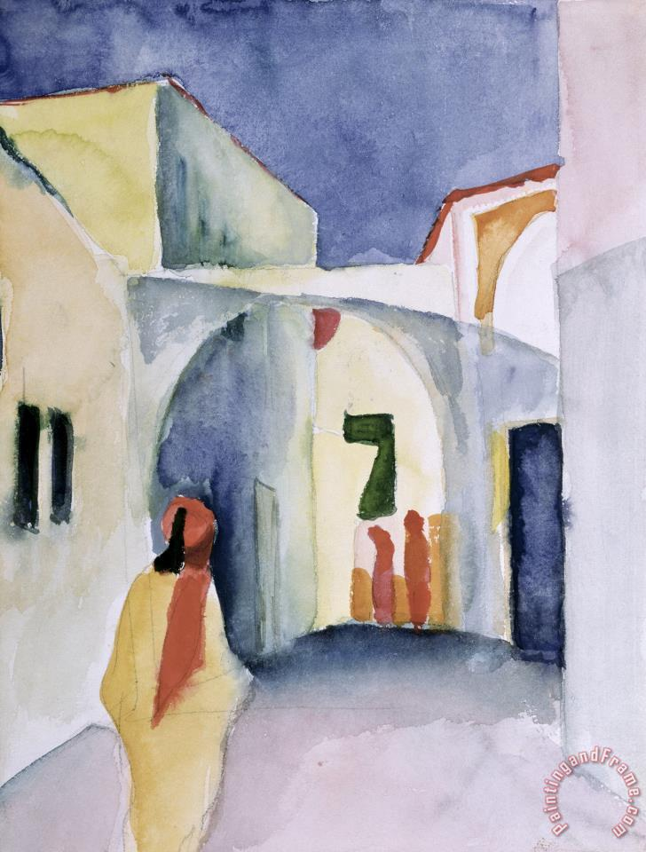 A Glance Down an Alley painting - August Macke A Glance Down an Alley Art Print