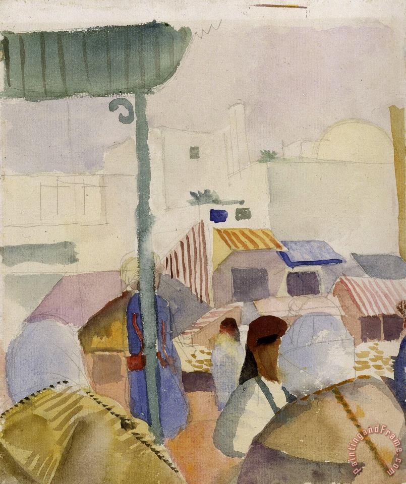 August Macke Market in Tunis II Art Print