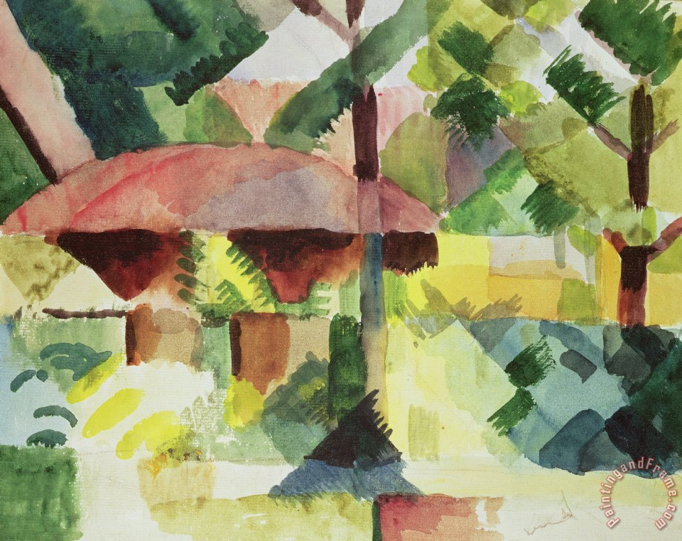 The Garden painting - August Macke The Garden Art Print