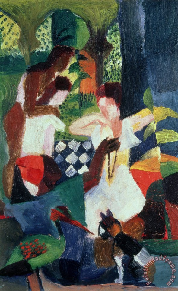 August Macke The Turkish Jeweller Art Print