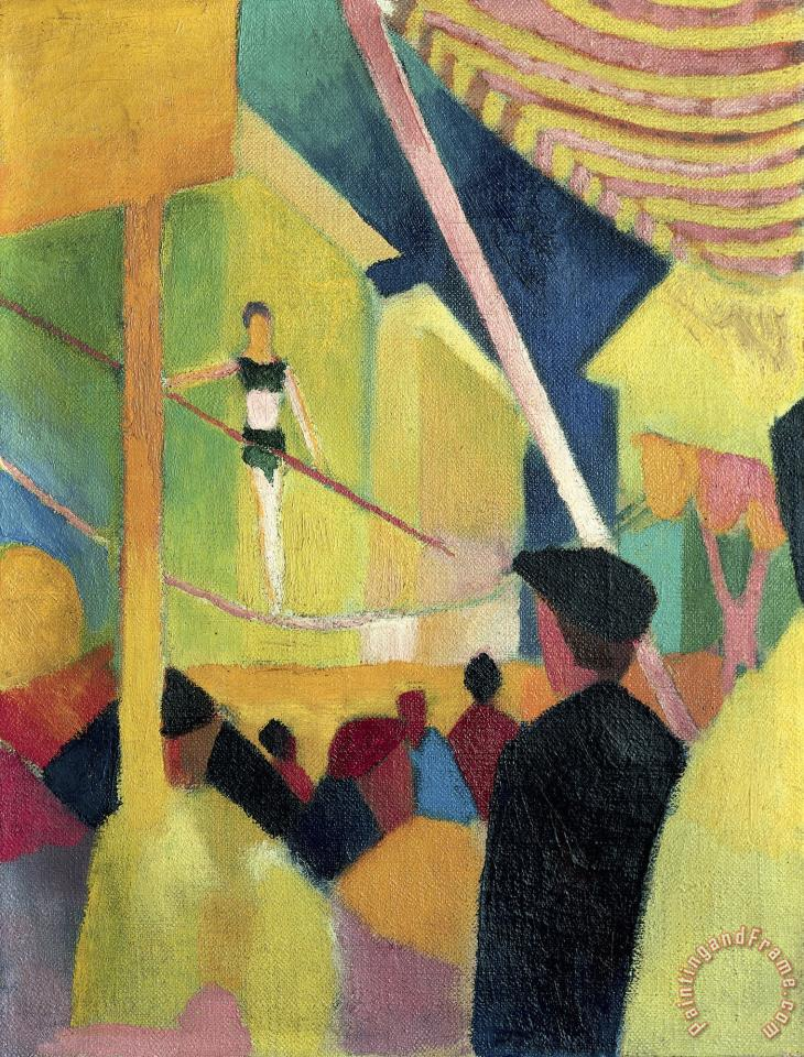 Tightrope Walker painting - August Macke Tightrope Walker Art Print