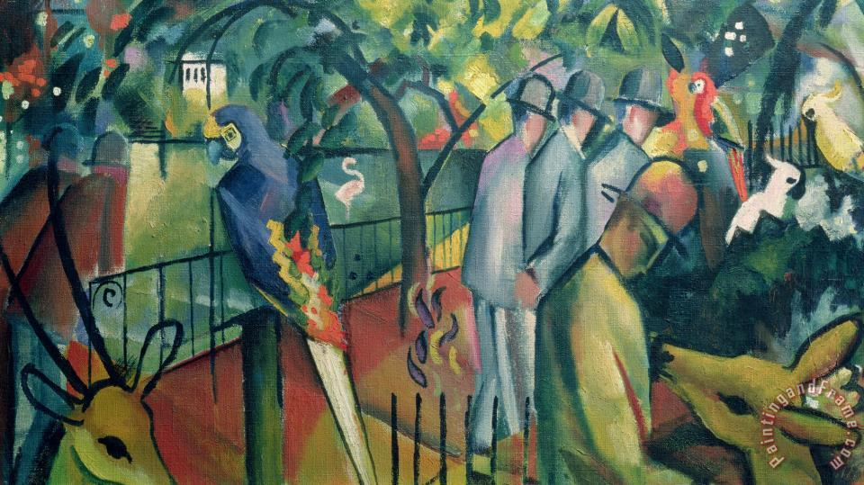 August Macke Zoological Garden I Art Print