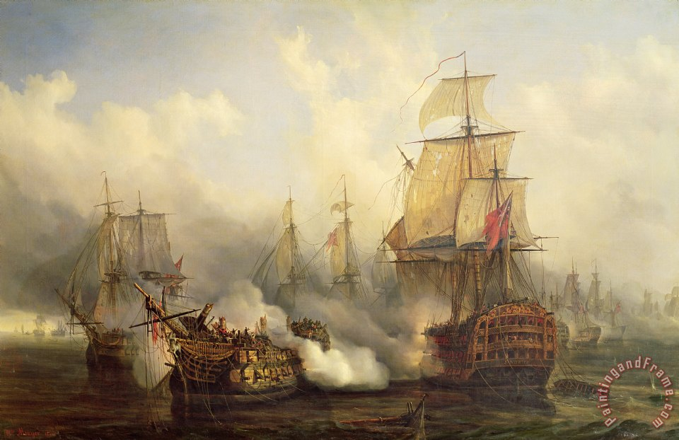 The Redoutable at Trafalgar painting - Auguste Etienne Francois Mayer The Redoutable at Trafalgar Art Print