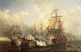 The Redoutable at Trafalgar by Auguste Etienne Francois Mayer