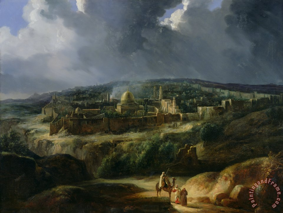 Auguste Forbin View of Jerusalem from the Valley of Jehoshaphat Art Painting