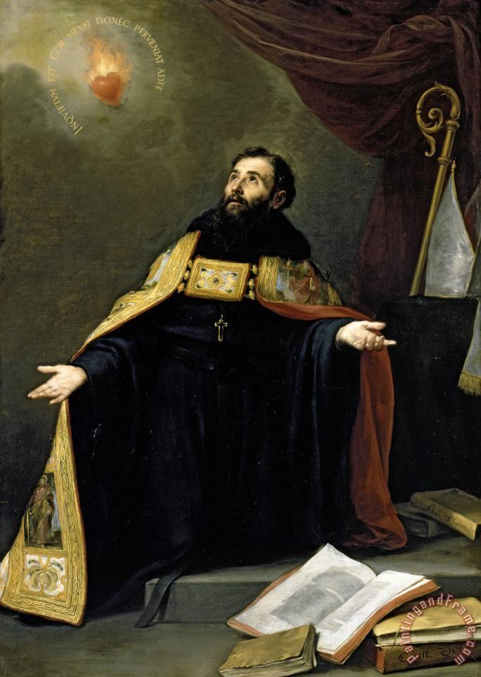 Bartolome Esteban Murillo Saint Augustine In Ecstasy 1665