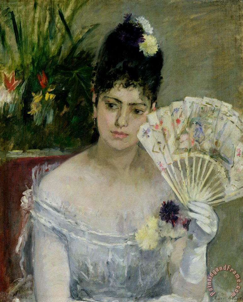 At The Ball painting - Berthe Morisot At The Ball Art Print