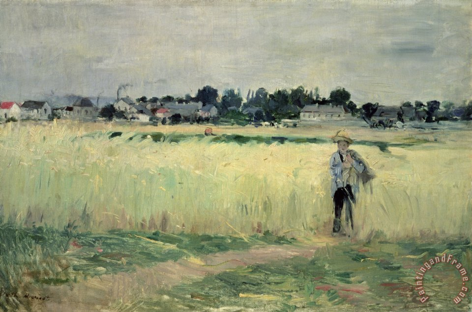 Berthe Morisot In the Wheatfield at Gennevilliers Art Print