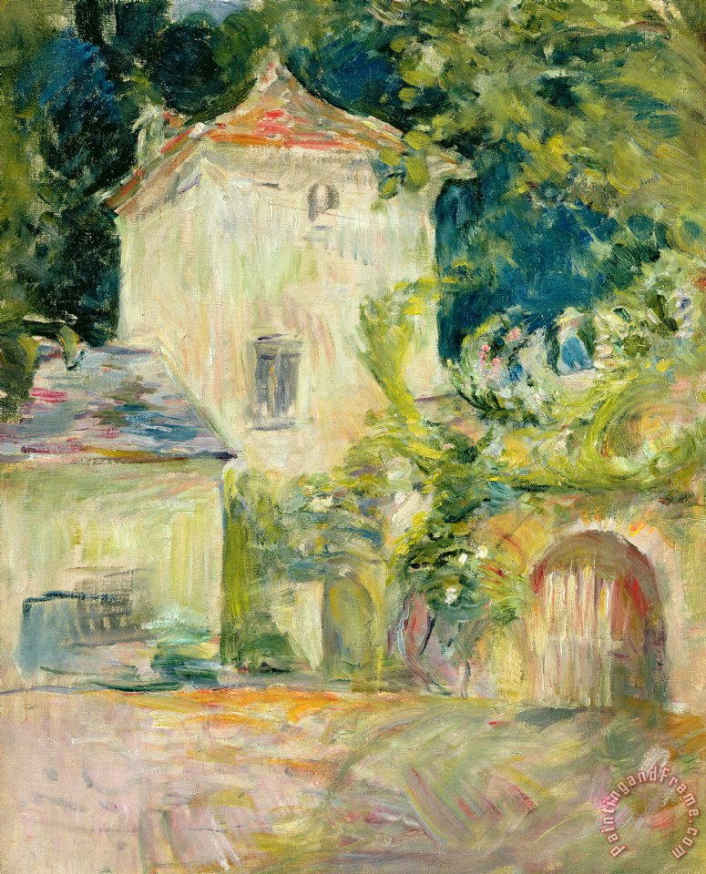 Pigeon Loft at the Chateau du Mesnil painting - Berthe Morisot Pigeon Loft at the Chateau du Mesnil Art Print