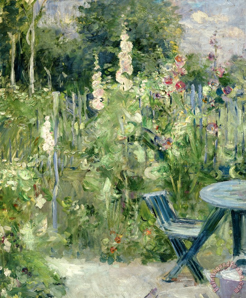 Roses Tremieres painting - Berthe Morisot Roses Tremieres Art Print