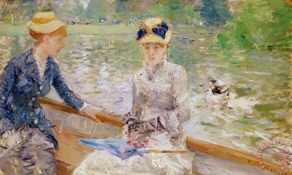 Summers Day painting - Berthe Morisot Summers Day Art Print
