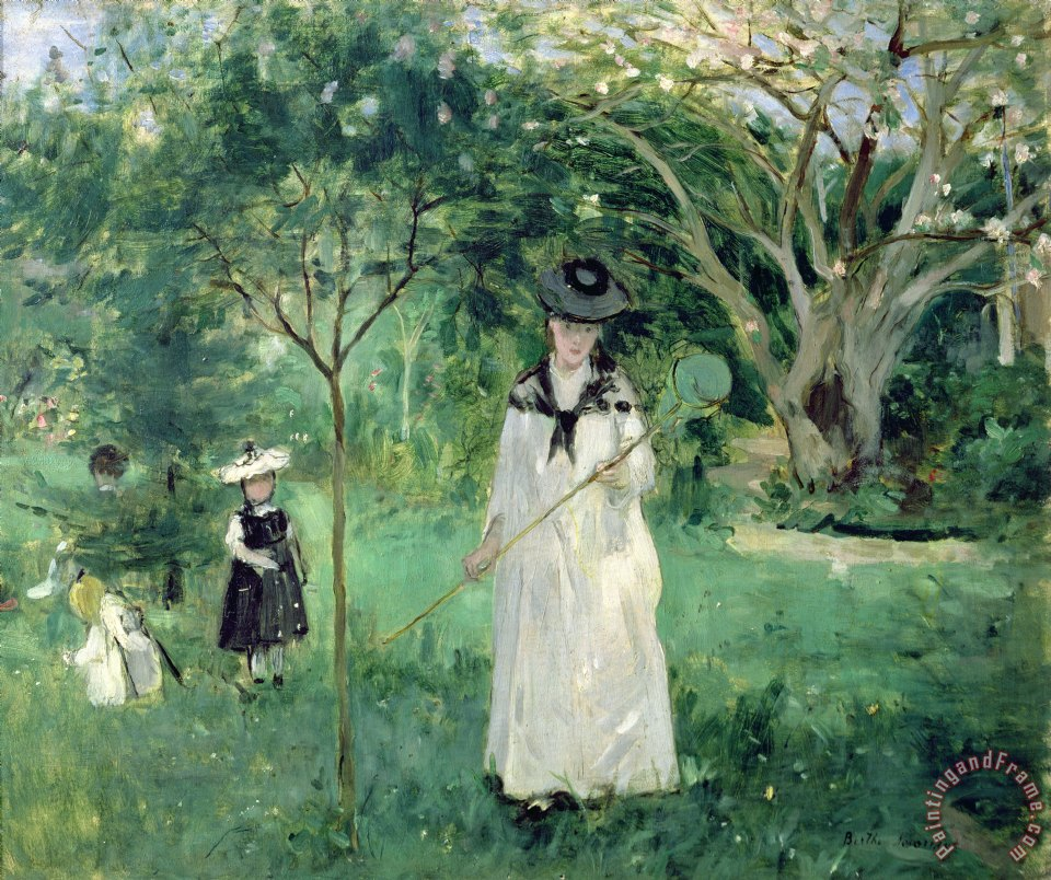 Berthe Morisot The Butterfly Hunt Art Print