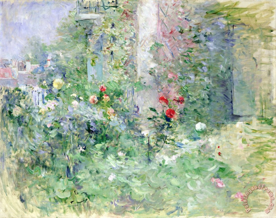 The Garden at Bougival painting - Berthe Morisot The Garden at Bougival Art Print
