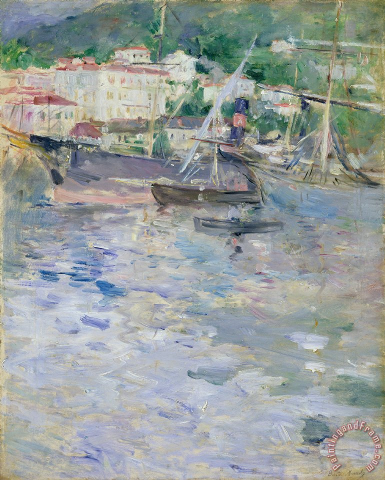 Berthe Morisot The Port at Nice Art Print