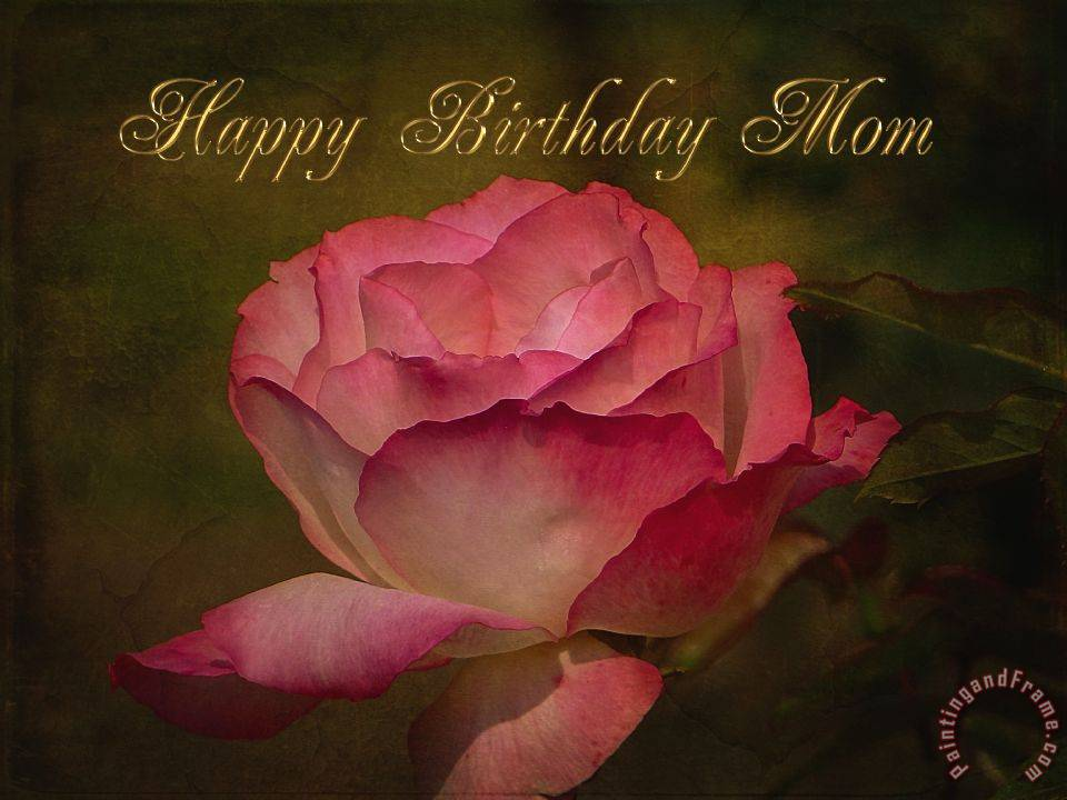 Happy Birthday Mom painting - Blair Wainman Happy Birthday Mom Art Print