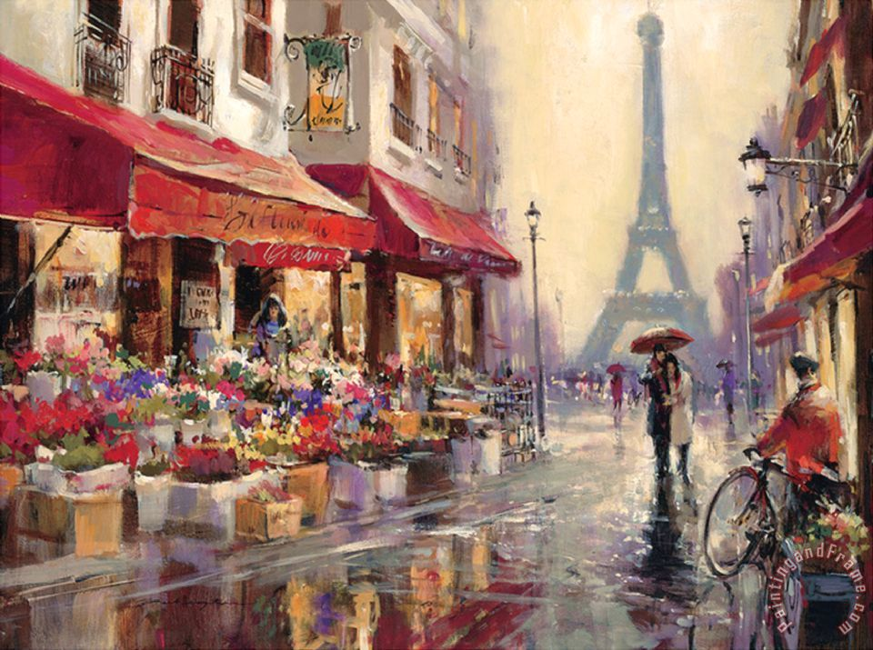 April in Paris painting - brent heighton April in Paris Art Print