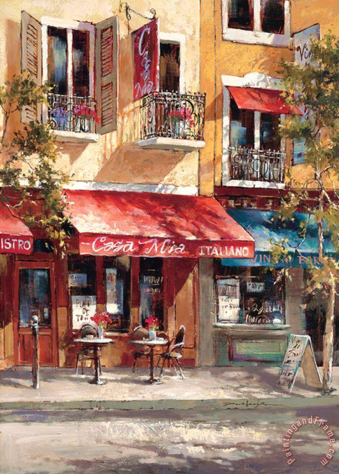 brent heighton casa mia italiano painting - casa mia italiano print