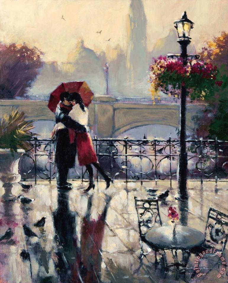 Brent Heighton Romantic Embrace Painting