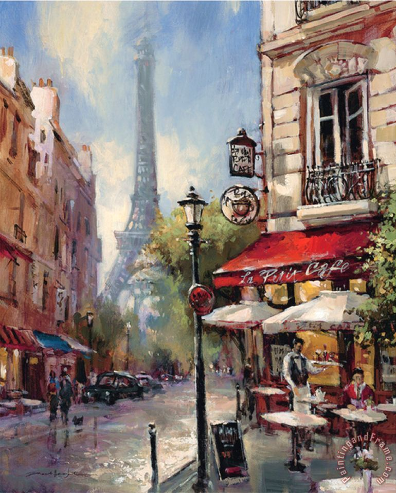 Tour De Eiffel View painting - brent heighton Tour De Eiffel View Art Print