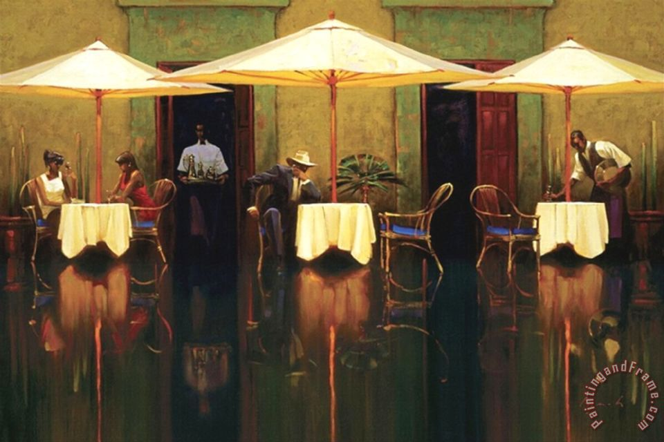 Brent Lynch Spanish Cafe Painting Spanish Cafe Print For
