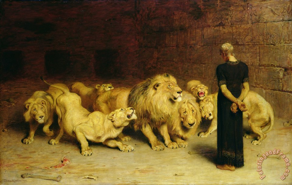 Daniel in the Lions Den painting - Briton Riviere Daniel in the Lions Den Art Print