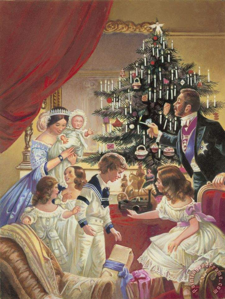 The Story Of The Christmas Tree painting - C L Doughty The Story Of The Christmas Tree Art Print