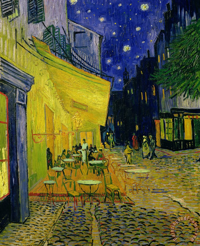 Cafe Terrace Arles Vincent van Gogh Art Print