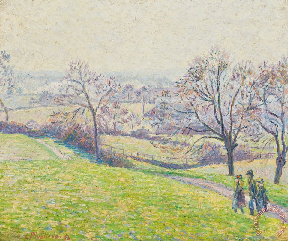Landscape Garden Epping : Camille pissarro epping landscape painting