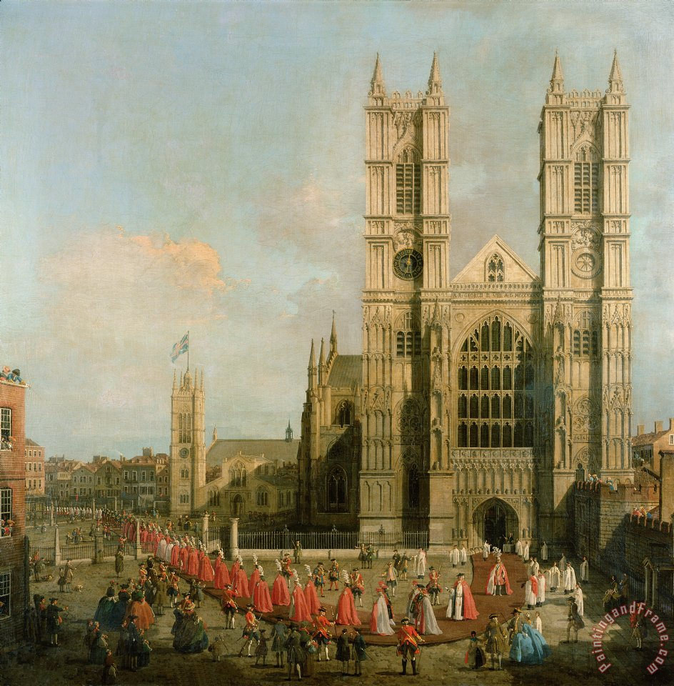 Procession of the Knights of the Bath painting - Canaletto Procession of the Knights of the Bath Art Print