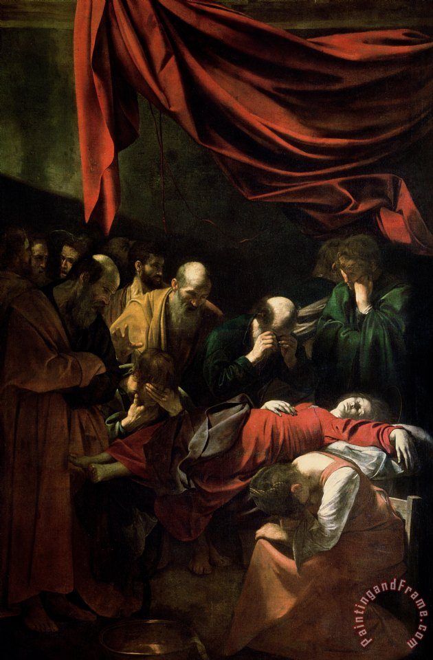 Caravaggio The Death of the Virgin Art Painting