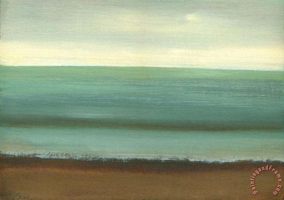 Caroline Gold Calm Sea Painting Calm Sea Print For Sale