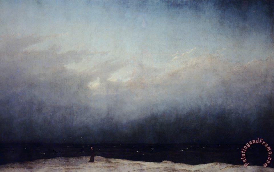 Monk By Sea painting - Caspar David Friedrich Monk By Sea Art Print