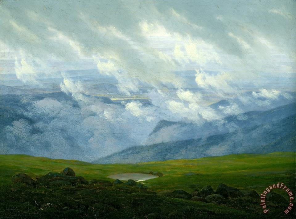 Drifting Clouds painting - Caspar David Friedrich Drifting Clouds Art Print