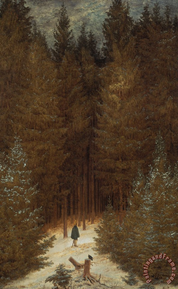 Hunter in the Forest painting - Caspar David Friedrich Hunter in the Forest Art Print
