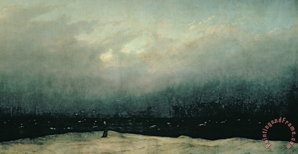 Caspar David Friedrich Monk by sea Art Print